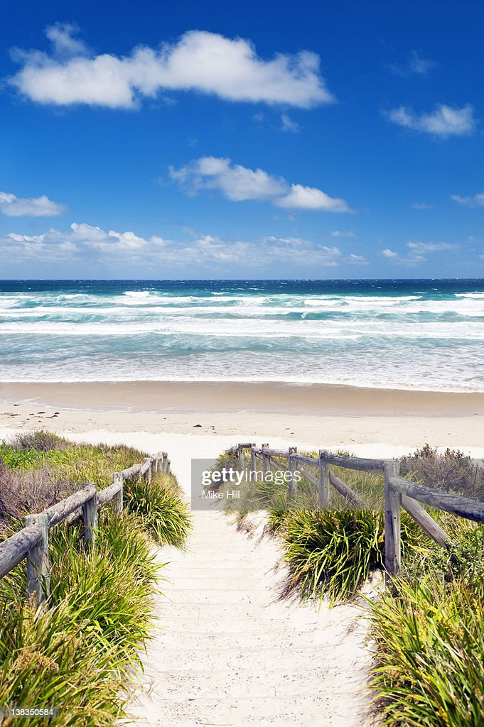 Track to Cave Beach, Booderee National Park, Jervi : Stock Photo