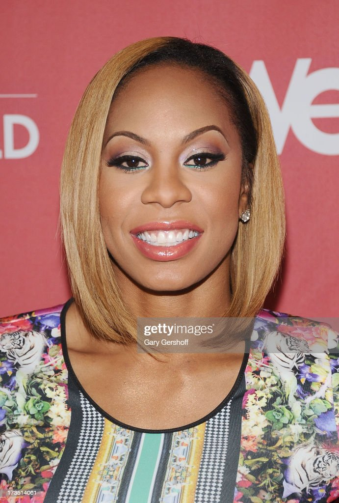 Track world champion Sanya Richards-Ross attends 'Sanya's Glam And Gold' Series Premiere at Gansevoort Hotel on July 15, 2013 in New York City.