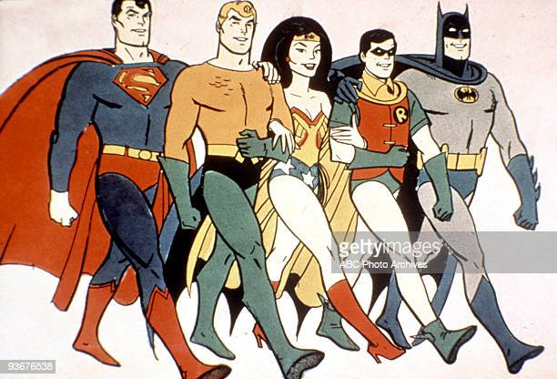 Batman and robin stock photos and pictures getty images - Superman wonder woman cartoon ...