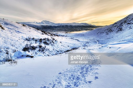 Tracks Through Winter Mountains, Tromsø, Norway