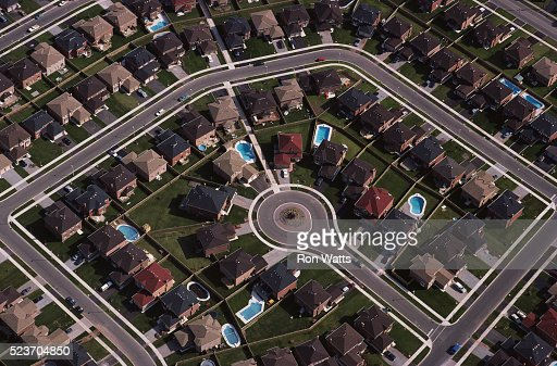 Tract Housing in Suburb