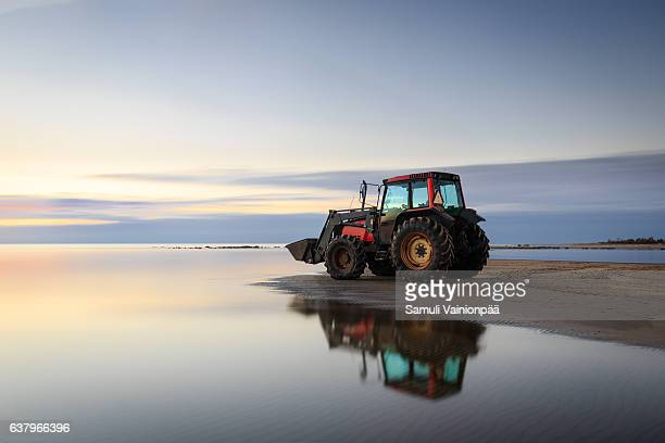 Tractor At Beach