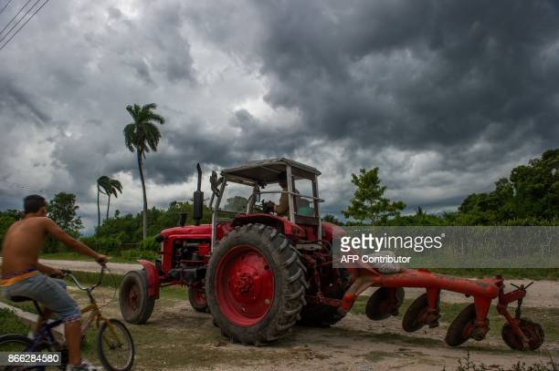 A tractor of Soviet origin is seen in a suburb of Havana on October 16 2017 With three decades of close alliance with the Soviet Union everything in...