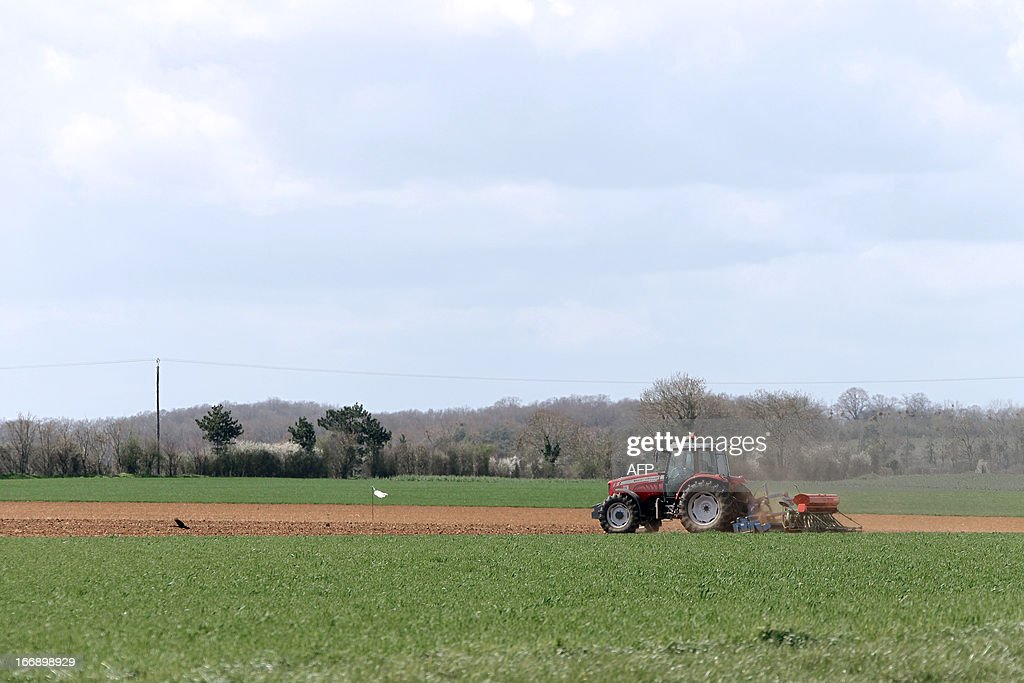 A tractor plows a field near the village of Boissey in Normandy on April 18, 2013. Since 1983, the name Camembert de Normandie has been protected as Appellation d'Origine controlée (AOC).