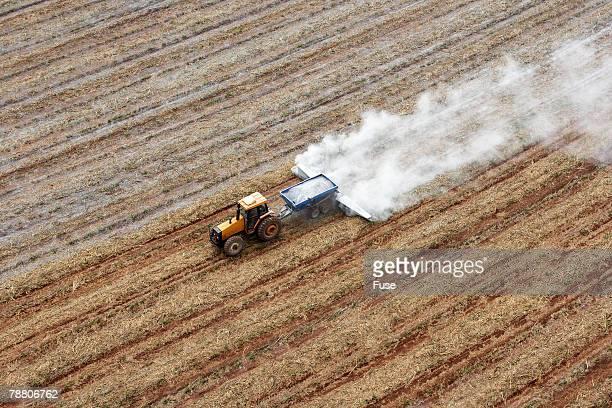 Tractor Spraying Fertilizer
