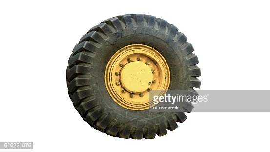 tractor tires on white background isolated : Stock-Foto