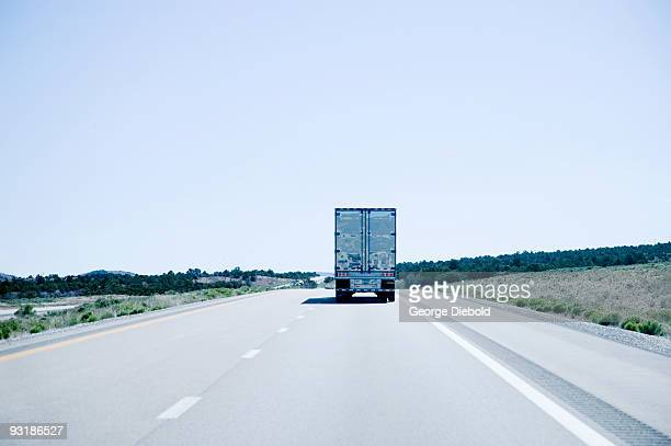 tractor trailer on highway