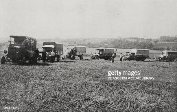 Tractors supplied to the French Army during the fighting on the Meuse World War I from L'Illustrazione Italiana Year XLIII No 38 September 17 1916
