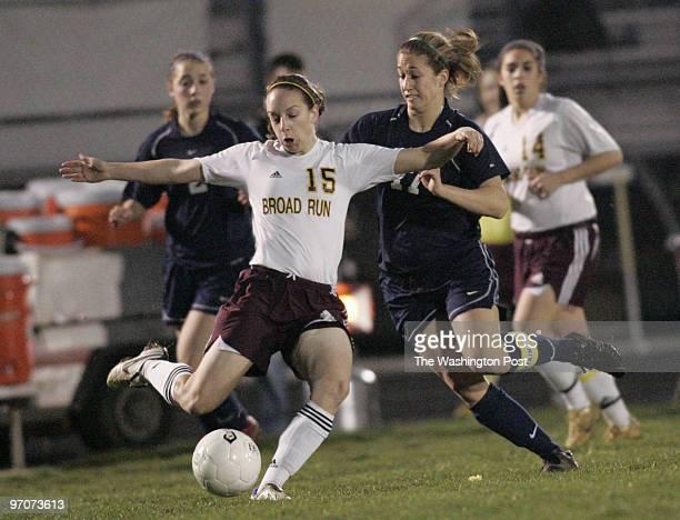 Tracy A Woodward/The Washington Post Broad Run High School 21670 Ashburn Rd Ashburn VA Girls' Soccer Broad Run vs Loudoun County High School Broad...