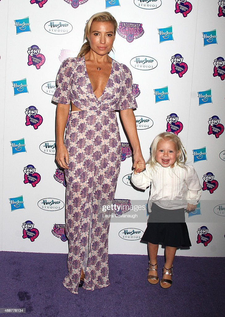 Tracy Anderson and daughter Penelope Mogol attend the 'My Little Pony Equestria Girls Friendship Games ' New York Premiere at Angelika Film Center on...