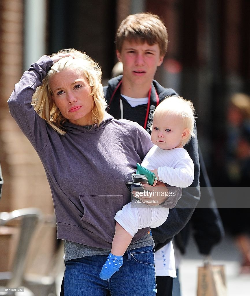 <a gi-track='captionPersonalityLinkClicked' href=/galleries/search?phrase=Tracy+Anderson&family=editorial&specificpeople=2525428 ng-click='$event.stopPropagation()'>Tracy Anderson</a> and Penelope Mogol are seen in Tribeca on April 20, 2013 in New York City.