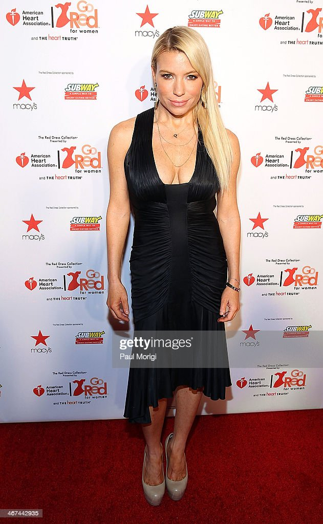Tracy Anderson attends the Go Red For Women The Heart Truth Red Dress Collection during MercedesBenz Fashion Week Fall 2014 at The Theatre at Lincoln...
