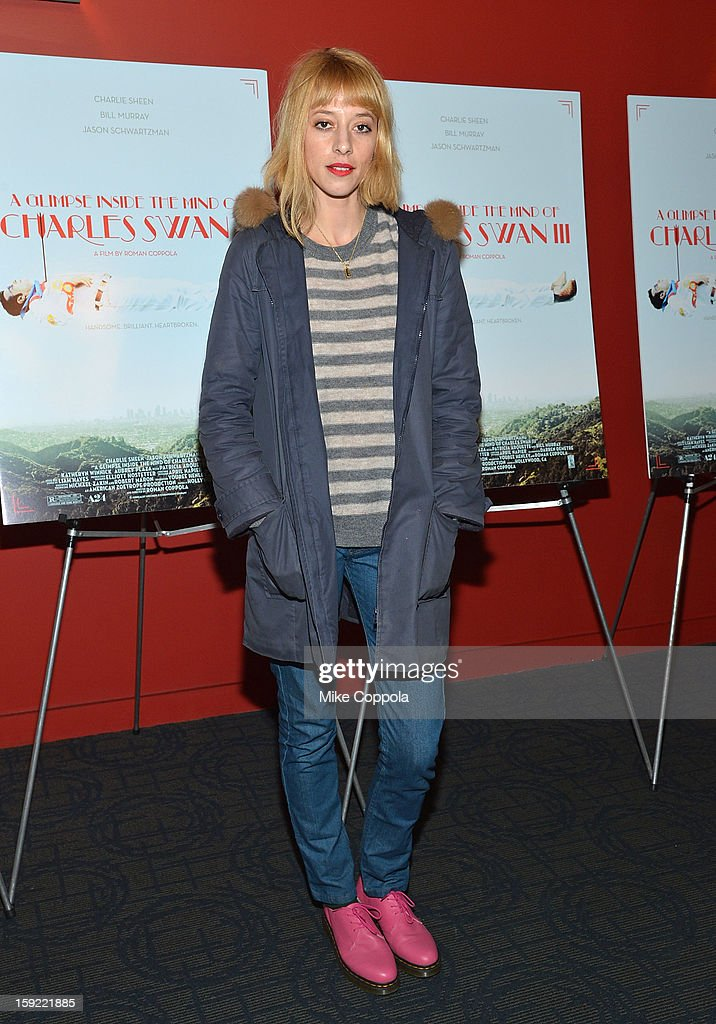 Tracy Antonopoulos attends a screening of 'A Glimpse Inside The Mind Of Charles Swan III' at Landmark Sunshine Cinema on January 9, 2013 in New York City.