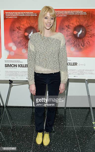 Tracy Antonopoulos attends the 'Simon Killer' New York premiere at MOMA on April 2 2013 in New York City