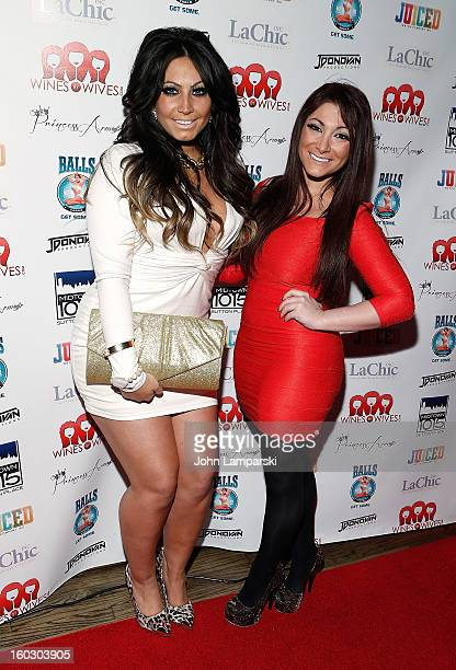 Tracy Dimarco and Deena Cortese attend 'Jerseylicious' Season 5 Premiere Party at Midtown Sutton on January 28 2013 in New York City