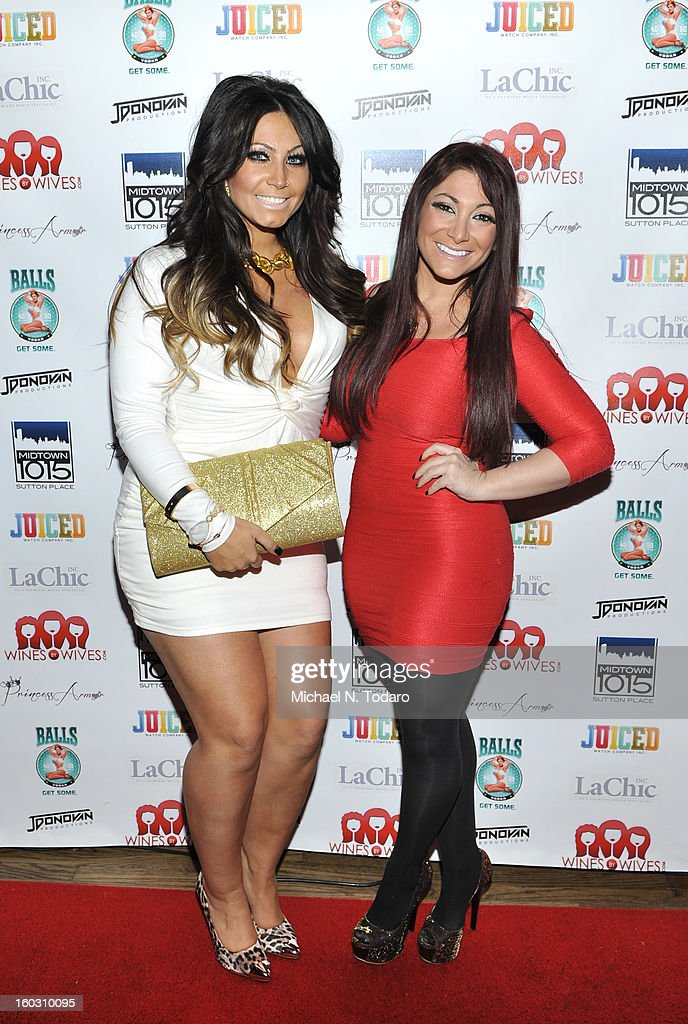 Tracy Dimarco and Deena Cortese attend 'Jerseylicious' Season 5 Premiere Party at Midtown Sutton on January 28, 2013 in New York City.
