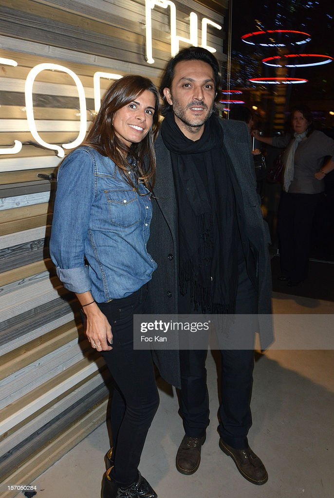 Tracy Francelet and Olivier Sitruk attend the MCS 'We The People' launch party at MCS Champs Elysees on November 27, 2012 in Paris, France.