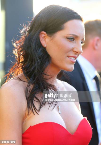 Tracy Gahan wife of Erin Phillips of the Crows looks on during the The W Awards at the Peninsula on March 28 2017 in Melbourne Australia