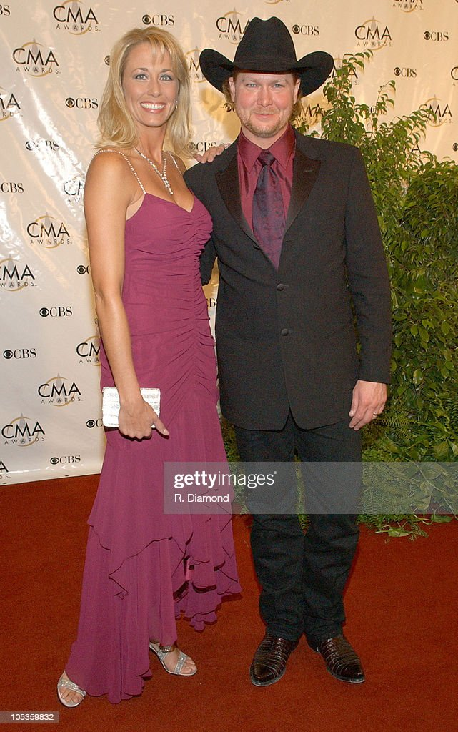 <a gi-track='captionPersonalityLinkClicked' href=/galleries/search?phrase=Tracy+Lawrence&family=editorial&specificpeople=217325 ng-click='$event.stopPropagation()'>Tracy Lawrence</a> and wife Becca during 38th Annual Country Music Awards - Arrivals at Grand Ole Opry House in Nashville, Tennessee, United States.