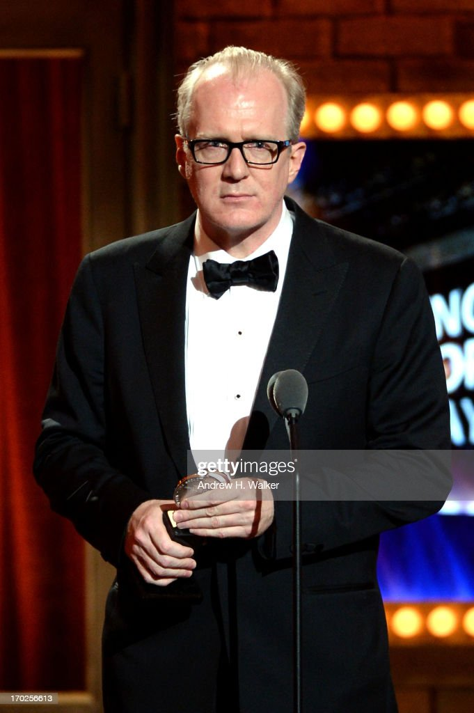 Tracy Letts accepts the award for Best Performance by an Actor in a Leading Role in a Play for his role in 'Who's Afraid of Virginia Woolf?' onstage at The 67th Annual Tony Awards at Radio City Music Hall on June 9, 2013 in New York City.