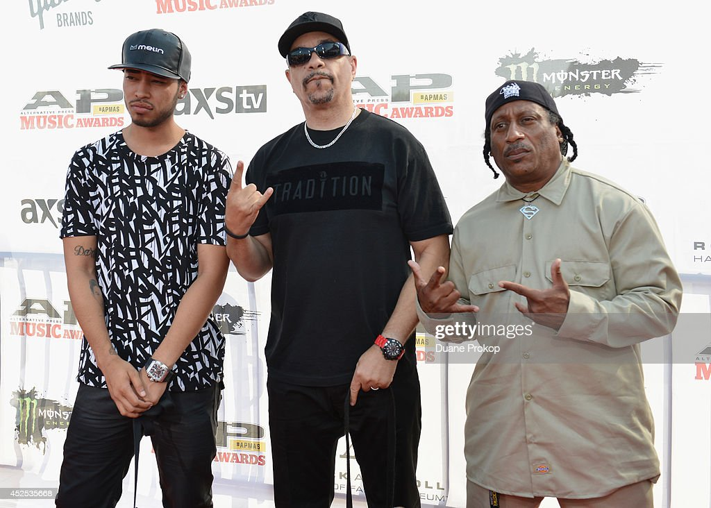 Tracy Marrow Jr., <a gi-track='captionPersonalityLinkClicked' href=/galleries/search?phrase=Ice-T&family=editorial&specificpeople=213017 ng-click='$event.stopPropagation()'>Ice-T</a> and Ernie C of Body Count attends the 2014 Gibson Brands AP Music Awards at the Rock and Roll Hall of Fame and Museum on July 21, 2014 in Cleveland, Ohio.