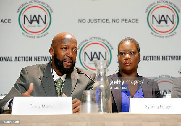 Tracy Martin and Sybrina Fulton parents of slain youth Trayvon Martin speak during the 'Crisis Panal How Do We Deal And Organize Around Community...