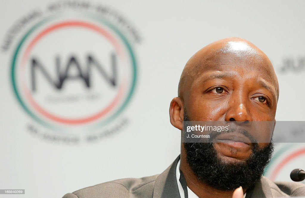 Tracy Martin, father of slain youth Trayvon Martin speaks during the 'Crisis Panal: How Do We Deal And Organize Around Community Crisis' Panal during the 2013 NAN National Convention Day 2 at New York Sheraton Hotel & Tower on April 4, 2013 in New York City.