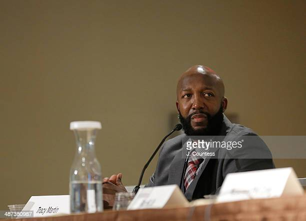 Tracy Martin speaks during the Black Male Panal during the second day of the 2014 National Action Network Convention at the Sheraton New York on...