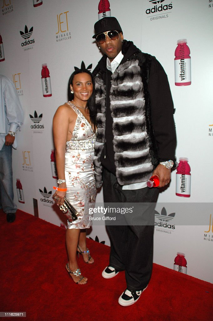 <a gi-track='captionPersonalityLinkClicked' href=/galleries/search?phrase=Tracy+McGrady&family=editorial&specificpeople=201486 ng-click='$event.stopPropagation()'>Tracy McGrady</a> (right) and wife during <a gi-track='captionPersonalityLinkClicked' href=/galleries/search?phrase=Tracy+McGrady&family=editorial&specificpeople=201486 ng-click='$event.stopPropagation()'>Tracy McGrady</a> and Diddy Host All-Star Kick Off Party at JET Nightclub - The Mirage Hotel & Casino in Las Vegas, Nevada, United States.