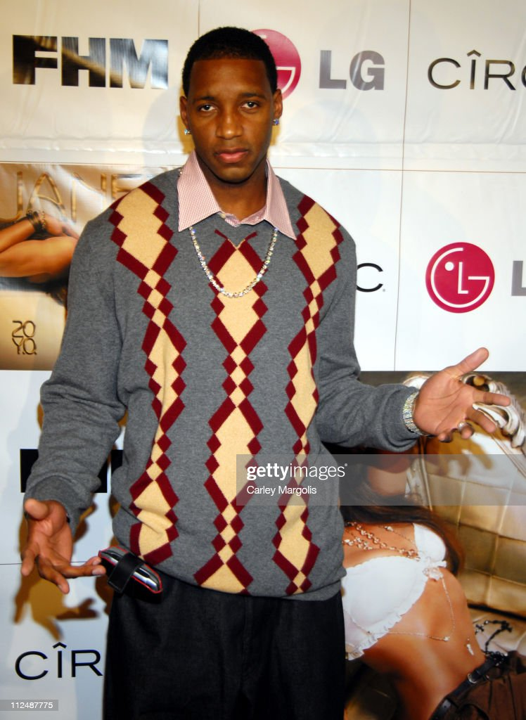 Tracy McGrady during Janet Jackson Record Release Party for '20 Y.O.' at Room Service in New York City, New York, United States.