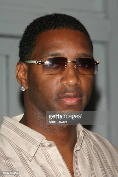 Tracy McGrady during The TMobile Sidekick 3 Debut Party at Hollywood Palladium Theater in Hollywood California United States