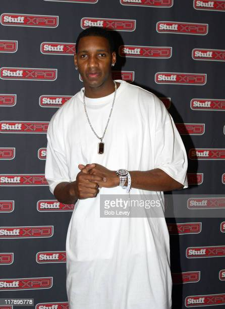 Tracy McGrady of the Houston Rockets during Stuff Magazine XPO and MLBcom All Star Weekend at Hyatt Regency in Houston Texas United States