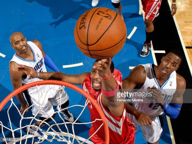 Tracy McGrady of the Houston Rockets shoots a layup against the Orlando Magic during the game on December 23 2009 at Amway Arena in Orlando Florida...