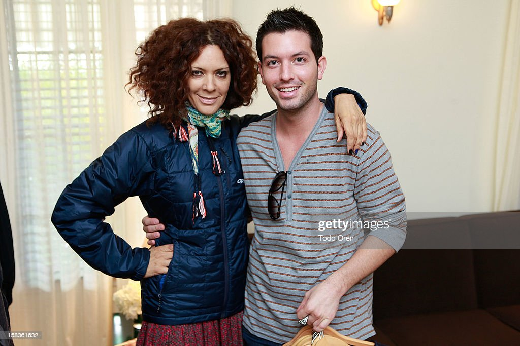 Tracy McMillan and Daniel Musto shop at the Johnny Was Holiday Gifting Suite at Chateau Marmont on December 13, 2012 in Los Angeles, California.