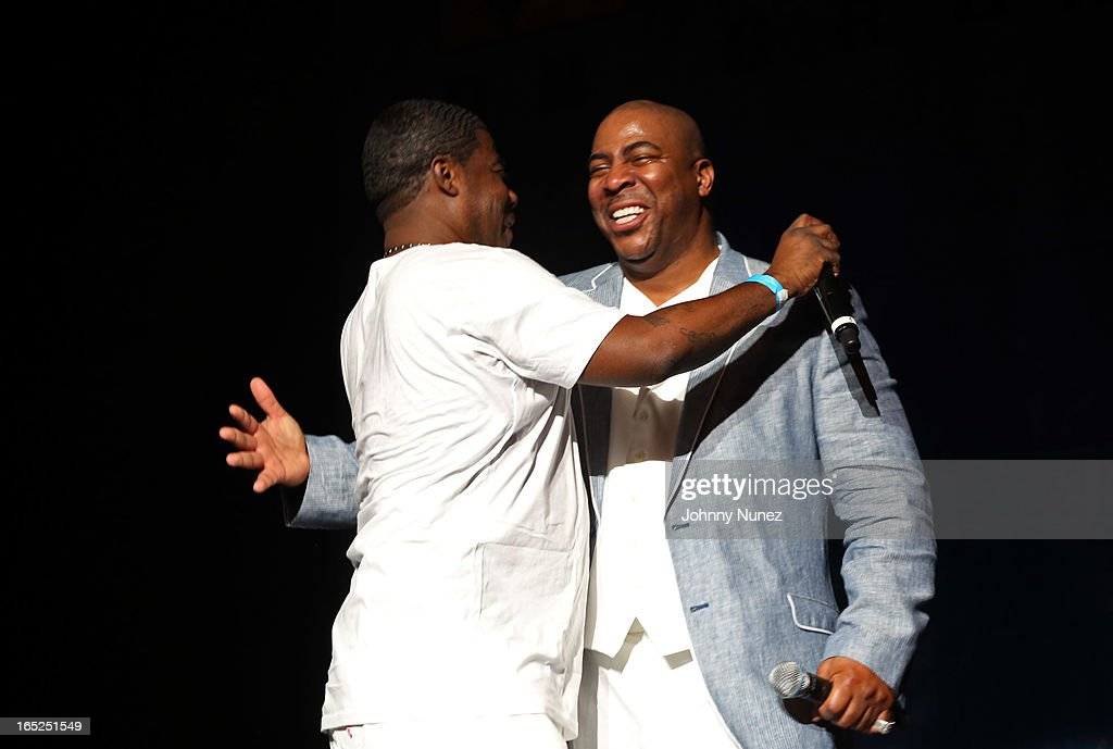 <a gi-track='captionPersonalityLinkClicked' href=/galleries/search?phrase=Tracy+Morgan&family=editorial&specificpeople=182428 ng-click='$event.stopPropagation()'>Tracy Morgan</a> and Capone perform at Hot 97's April Fool's Comedy Show at The Theater at Madison Square Garden on April 1, 2013, in New York City.