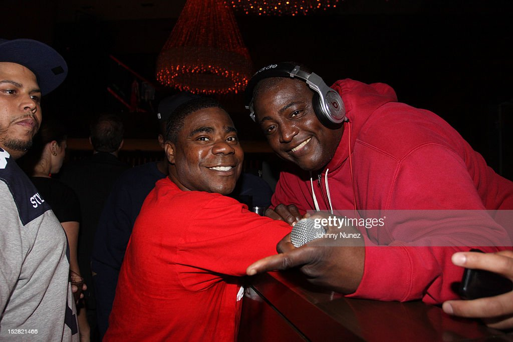 <a gi-track='captionPersonalityLinkClicked' href=/galleries/search?phrase=Tracy+Morgan&family=editorial&specificpeople=182428 ng-click='$event.stopPropagation()'>Tracy Morgan</a> and DJ SNS attend the Premiere Of NBA 2K13 With Cover Athletes And NBA Superstars at 40 / 40 Club on September 26, 2012 in New York City.