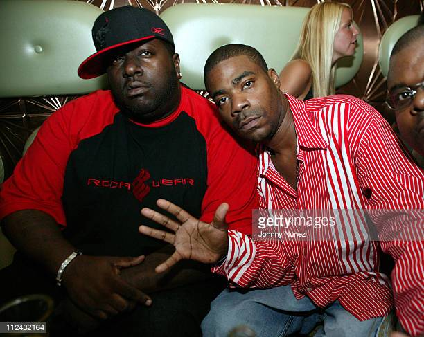 Tracy Morgan and guest during Jadakiss' 'Kiss Of Death' Album Release Party at Deep in New York City New York United States