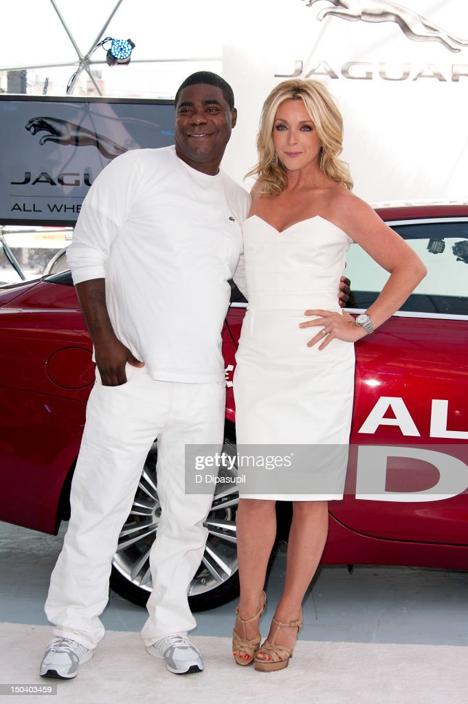 <a gi-track='captionPersonalityLinkClicked' href=/galleries/search?phrase=Tracy+Morgan&family=editorial&specificpeople=182428 ng-click='$event.stopPropagation()'>Tracy Morgan</a> (L) and <a gi-track='captionPersonalityLinkClicked' href=/galleries/search?phrase=Jane+Krakowski&family=editorial&specificpeople=203166 ng-click='$event.stopPropagation()'>Jane Krakowski</a> attend the opening of Jaguar's 'Chill NY' at High Line Park on August 16, 2012 in New York City.
