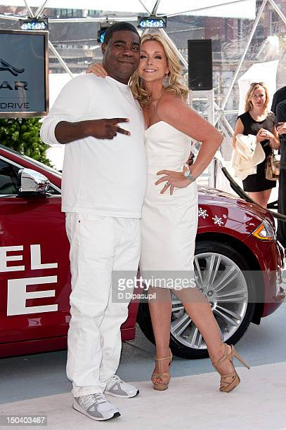 Tracy Morgan and Jane Krakowski attend the opening of Jaguar's 'Chill NY' at High Line Park on August 16 2012 in New York City