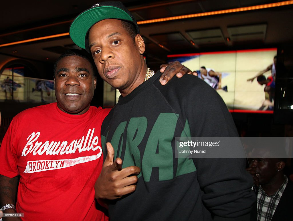 <a gi-track='captionPersonalityLinkClicked' href=/galleries/search?phrase=Tracy+Morgan&family=editorial&specificpeople=182428 ng-click='$event.stopPropagation()'>Tracy Morgan</a> and <a gi-track='captionPersonalityLinkClicked' href=/galleries/search?phrase=Jay-Z&family=editorial&specificpeople=201664 ng-click='$event.stopPropagation()'>Jay-Z</a> attend the Premiere Of NBA 2K13 With Cover Athletes And NBA Superstars at 40 / 40 Club on September 26, 2012 in New York City.