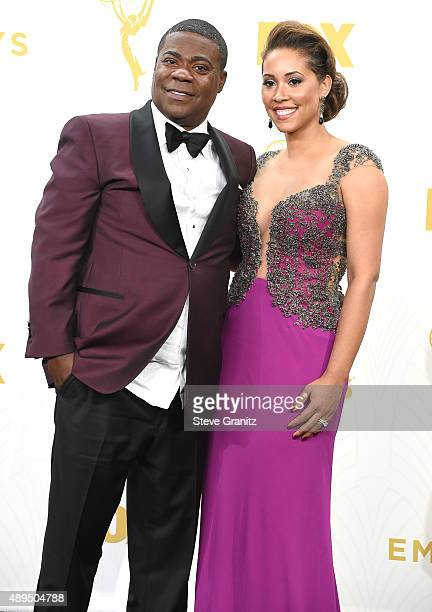Tracy Morgan and Megan Morgan poses at the 67th Annual Primetime Emmy Awards at Microsoft Theater on September 20 2015 in Los Angeles California