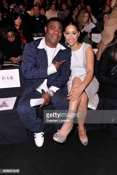 Tracy Morgan and Megan Wollover attend the Badgley Mischka fashion show during MercedesBenz Fashion Week Fall 2014 at The Theatre at Lincoln Center...