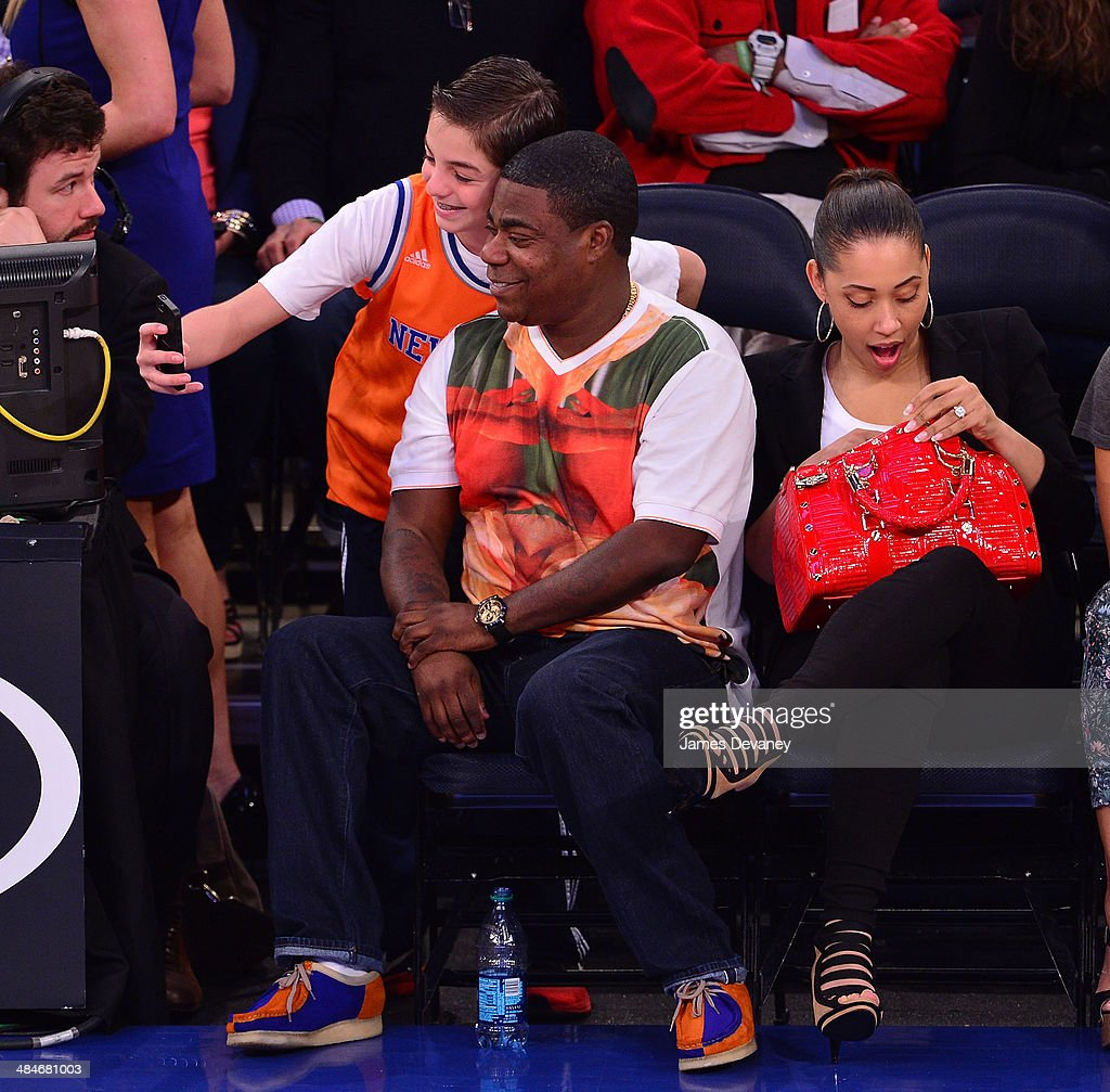<a gi-track='captionPersonalityLinkClicked' href=/galleries/search?phrase=Tracy+Morgan&family=editorial&specificpeople=182428 ng-click='$event.stopPropagation()'>Tracy Morgan</a> and <a gi-track='captionPersonalityLinkClicked' href=/galleries/search?phrase=Megan+Wollover&family=editorial&specificpeople=8307276 ng-click='$event.stopPropagation()'>Megan Wollover</a> attend the Chicago Bulls vs New York Knicks game at Madison Square Garden on April 13, 2014 in New York City.