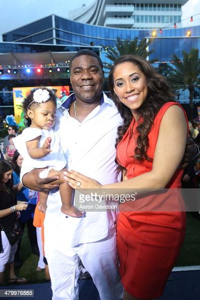 Tracy Morgan and Megan Wollover attends 'Rio 2' premiere at Fontainebleau Miami Beach on March 21 2014 in Miami Beach Florida