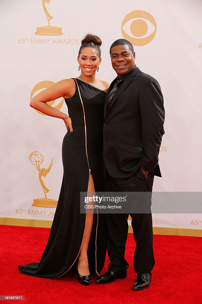 Tracy Morgan and Megan Wollover on the Red Carpet for the 65th Primetime Emmy Awards, which will be broadcast live across the country 8:00-11:00 PM ET/ 5:00-8:00 PM PT from NOKIA Theater L.A. LIVE in Los Angeles, Calif., on Sunday, Sept. 22 on the CBS Television Network.