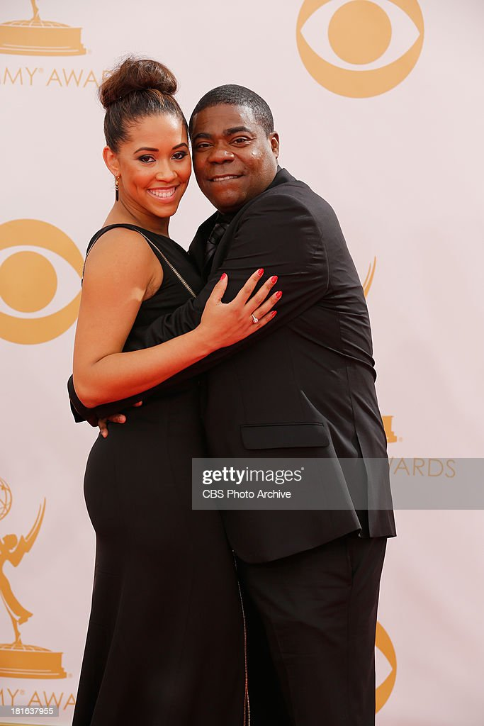 Tracy Morgan and Megan Wollover on the Red Carpet for the 65th Primetime Emmy Awards, which will be broadcast live across the country 8:00-11:00 PM ET/ 5:00-8:00 PM PT from NOKIA Theater L.A. LIVE in Los Angeles, Calif., on Sunday, Sept. 22 on the CBS Television Network.