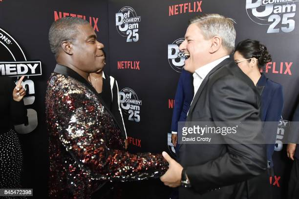 Tracy Morgan and Ted Sarandos attend Netflix Presents Def Comedy Jam 25 at The Beverly Hilton Hotel on September 10 2017 in Beverly Hills California