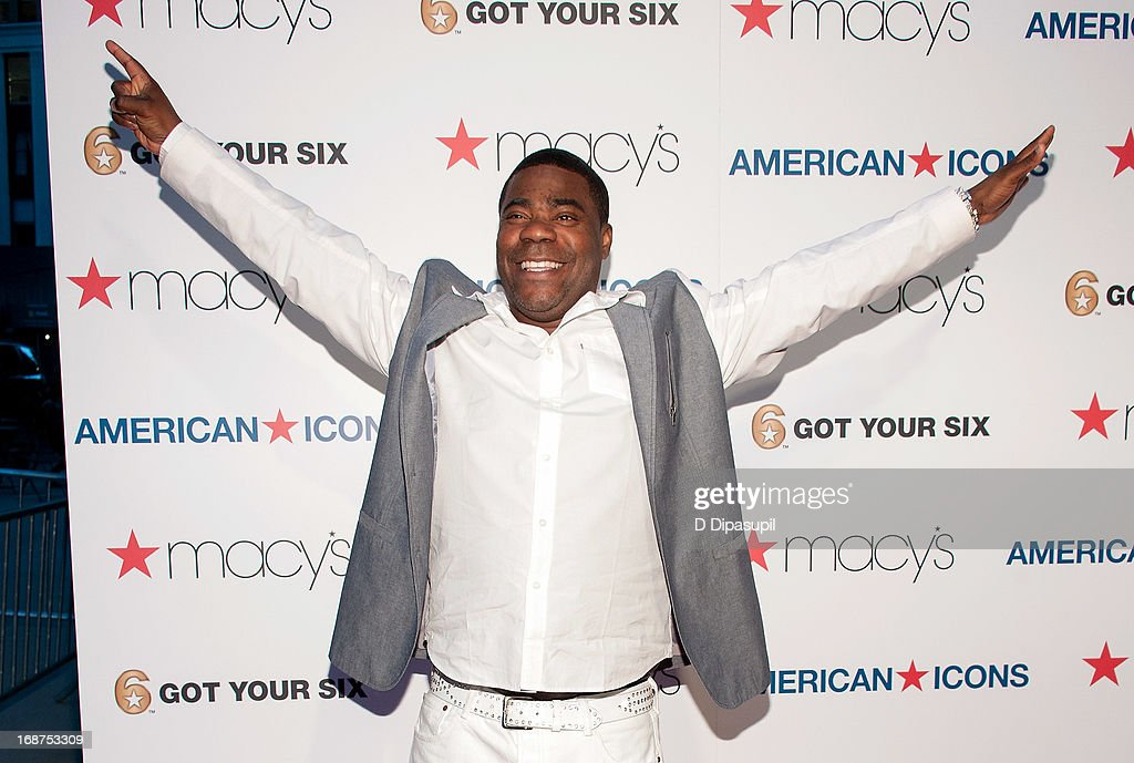 <a gi-track='captionPersonalityLinkClicked' href=/galleries/search?phrase=Tracy+Morgan&family=editorial&specificpeople=182428 ng-click='$event.stopPropagation()'>Tracy Morgan</a> attends Macy's 'American Icons' Campaign Launch at Gotham Hall on May 14, 2013 in New York City.
