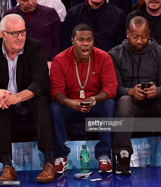 Tracy Morgan attends New York Knicks vs Houston Rockets game at Madison Square Garden on November 29 2015 in New York City