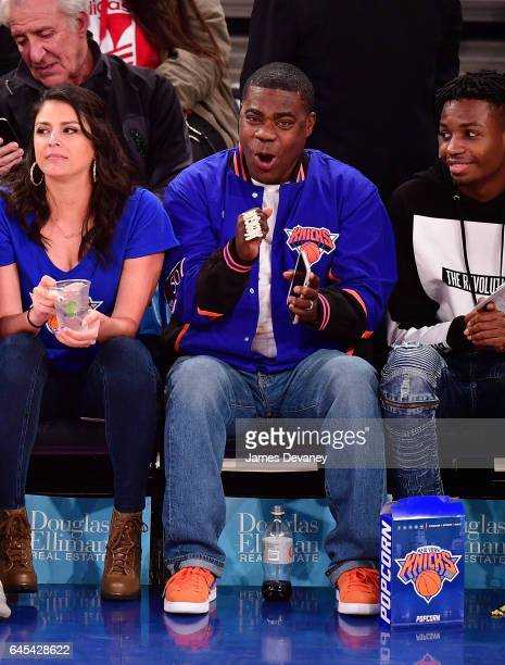 Tracy Morgan attends Philadelphia 76ers Vs New York Knicks game at Madison Square Garden on February 25 2017 in New York City